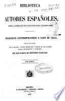 Dramaticos contemporaneos a Lope de Vega