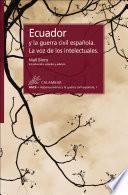 Ecuador y la guerra civil española. La voz de los intelectuales
