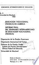 Educación vocacional (técnica) en América