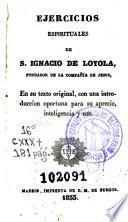 Ejercicios espirituales de S. Ignacio de Loyola