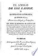 El amigo de los abios; ó, Ilustracion literaria ...