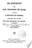 El espíritu de S.Francisco de Sales