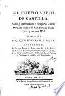 El Fuero Viejo de Castilla