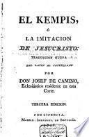 El Kempis, ó la Imitacio de Jesucrito