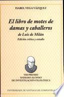 El libro de motes de damas y caballeros de Luis de Milán