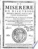 El Miserere en discursos predicables, para las tardes de Quaresma