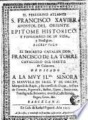 El peregrino Atlante S. Francisco Xavier apostol del Oriente