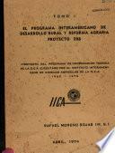 el programa interamericano de desarrollo rural y reforma agraria proyecto 206