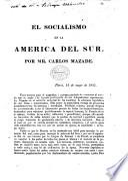 El Socialismo en la America del Sur