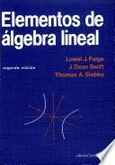Elementos álgebra lineal