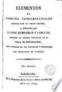 Elementos de gramática castellana-catalana