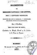 Elementos del derecho natural y de gentes