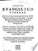 Elogio evangelico funeral en el fallecimiento del Doctor J. Perez de Montalban, etc