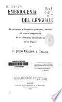 Embriogenia del lenguaje