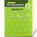 En Espanol Level 4, Grades 9-12 Cuaderno Para Hispanohablantes (Workbook)