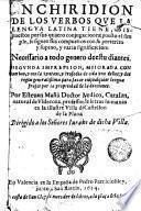 Enchiridion de los verbos qve la lengva latina tiene