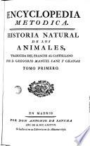 Encyclopedia Metòdic1a: historia natural de los animales, 1