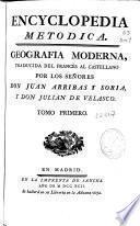 Encyclopedia metodica. Geografía moderna