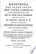 Ensayo Historico-Apologetico De La Literatura Española