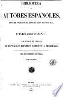 Epistolario español, 1