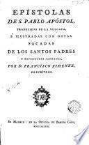 Epístolas de S. Pablo Apóstol