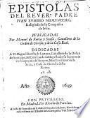 Epístolas del Rdo. Padre publicadas por M.de Faria y Sousa