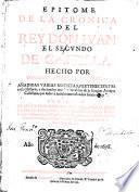 Epitome de la cronica del Rey Don Juan el segundo de Castilla