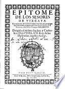 Epitome de los señores de Vizcaya