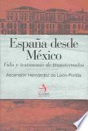España desde México