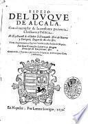 Espeio del duque de Alcala. Con el exemplar de la costante paciencia christiana y politica. ... Por don Francisco Lanario y Aragon ...