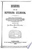 Estadistica de la Republica Mejicana