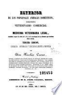 Esterior de los principales animales domésticos, derecho veterinario comercial y medicina veterinaria legal