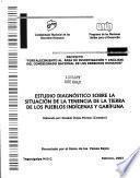 Estudio diagnóstico sobre la situación de la tenencia de la tierra de los pueblos indígenas y garífuna