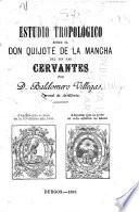 Estudio tropológico sobre el Don Quixote de la Mancha del sin par Cervantes
