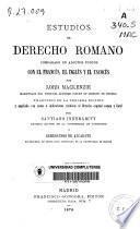 Estudios de derecho romano