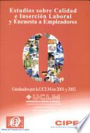 Estudios sobre calidad e inserción laboral y encuesta a empleadores