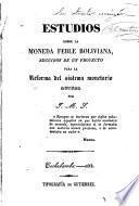 Estudios sobre la moneda feble boliviana