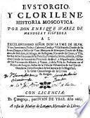 Evstorgio, y Clorilene, historia moscovica