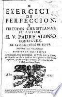 Exercicio de perfeccion y virtudes christianas