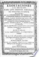 Exortaciones a la devoción al Santo Angel de la Guarda