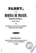 Fanny, ó, La Duquesa de Praslin