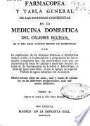 Farmacopea y tabla general de las materias contenidas en la medicina domestica