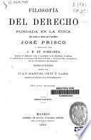 Filosofía del derecho fundada en la ética