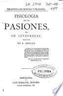 Fisiología de las pasiones