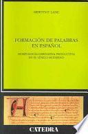 Formación de palabras en español