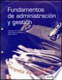 Fundamentos de administración y gestión
