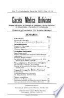 Gaceta médica boliviana