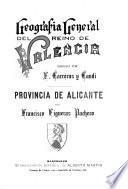 Geografía general del Reino de Valencia: Provincia de Valencia