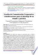 Gestión de Comunicación Corporativa