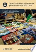 Gestión de la información y documentación turística local. HOTI0108
